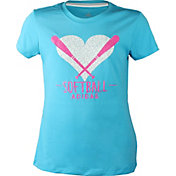 adidas Girl's Glitter Bat T-Shirt