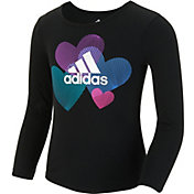 adidas Little Girls' Graphic Long Sleeve Shirt