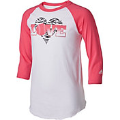 adidas Girls' Softball Love Destiny ¾ Sleeve Shirt