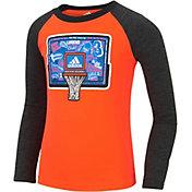 adidas Toddler Boys' Undefeated Raglan Long Sleeve Shirt