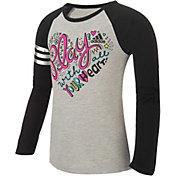 adidas Little Girls' Pep Rally Raglan Long Sleeve Shirt