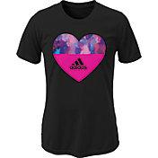 adidas Girls' Heart Graphic T-Shirt