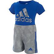 adidas Infant Boys' Dynamic Rise Bodysuit and Shorts Two-Piece Set