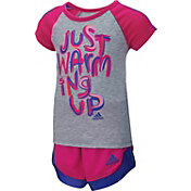 adidas Infant Girls' Just Warming Up Short Set