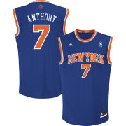adidas Men's New York Knicks Carmelo Anthony #7 Road Royal Replica Jersey
