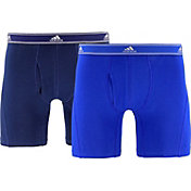 adidas Men's Relaxed Performance Stretch Cotton 6'' Boxers 2 Pack
