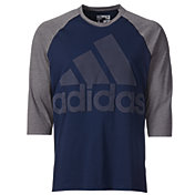 adidas Men's Branded Graphic Three Quarter Length Sleeve Shirt