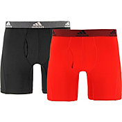 adidas Men's climalite Relaxed Performance 6'' Boxer Briefs 2 Pack