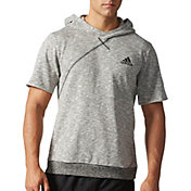 adidas Men's Cross-Up Short Sleeve Basketball Hoodie