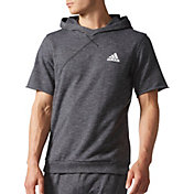 adidas Men's Cross-Up Short Sleeve Basketball Hoodie