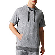 adidas Men's Cross Up Short Sleeve Basketball Hoodie