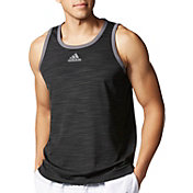 adidas Men's Heathered Basketball Sleeveless Shirt