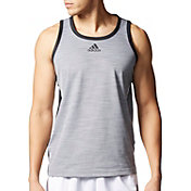 adidas Men's Heathered Basketball Sleeveless Shirt