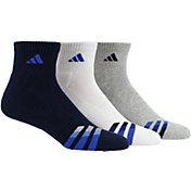 adidas Men's Color Cushioned Quarter Socks 3 Pack