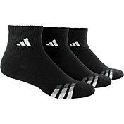 adidas Men's Cushioned Quarter Athletic Socks 3 Pack