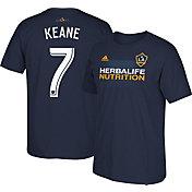 adidas Men's LA Galaxy Robbie Keane #7 Navy Player T-Shirt