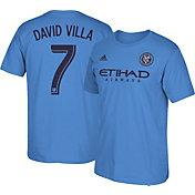 adidas Men's New York City FC David Villa #7 Light Blue Player T-Shirt