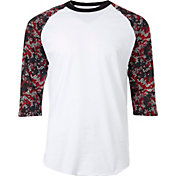 adidas Men's Triple Stripe Printed ¾ Sleeve Practice Shirt