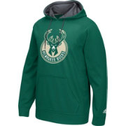 adidas Men's Milwaukee Bucks climawarm Playbook Green Hoodie