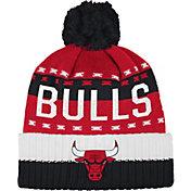 adidas Men's Chicago Bulls Cuffed Pom Knit Hat
