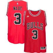 adidas Men's Chicago Bulls Dwyane Wade #3 Road Red Swingman Jersey