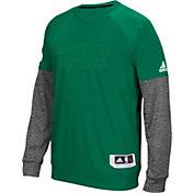 adidas Men's Boston Celtics On-Court Kelly Green/Grey Long Sleeve Shooting Shirt