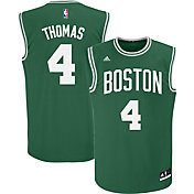adidas Men's Boston Celtics Isaiah Thomas #4 Road Kelly Green Replica Jersey