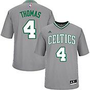 adidas Men's Boston Celtics Isaiah Thomas #4 Pride Grey Replica Jersey