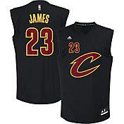 adidas Men's Cleveland Cavaliers LeBron James #23 Black Jersey