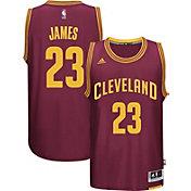 adidas Men's Cleveland Cavaliers LeBron James #23 Road Burgundy Swingman Jersey