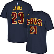 adidas Men's Cleveland Cavaliers LeBron James #23 Navy T-Shirt
