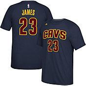 adidas Men's Cleveland Cavaliers LeBron James #23 climalite Navy T-Shirt