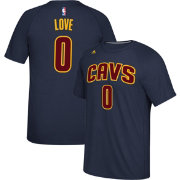 adidas Men's Cleveland Cavaliers Kevin Love #0 climalite Navy T-Shirt