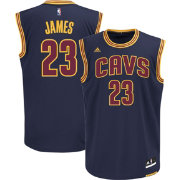 adidas Men's Cleveland Cavaliers LeBron James #23 Alternate Navy Replica Jersey