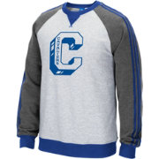 adidas Originals Men's Cleveland Cavaliers Varsity Grey Fleece Crew Pullover