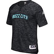 adidas Men's Charlotte Hornets On-Court Black Shooting Shirt