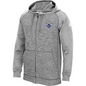 adidas Men's Charlotte Hornets climawarm Team Issue Grey Raglan Full-Zip Hoodie