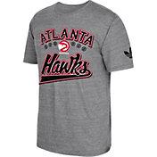 adidas Originals Men's Atlanta Hawks Grey Tri-Blend T-Shirt