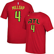 adidas Men's Atlanta Hawks Paul Millsap #4 climalite Red T-Shirt