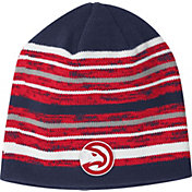 adidas Men's Atlanta Hawks Team-Color Striped Knit Hat