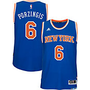 adidas Men's New York Knicks Kristaps Porzingis #6 Road Royal Swingman Jersey