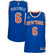 adidas Men's New York Knicks Kristaps Porzingis #6 Road Royal Swingman Jersey