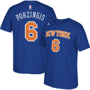 adidas Men's New York Knicks Kristaps Porzingis #6 Royal T-Shirt