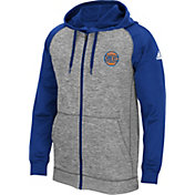 adidas Men's New York Knicks climawarm Team Issue Grey/Royal Full-Zip Hoodie