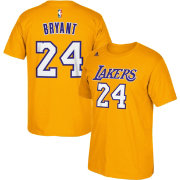 adidas Men's Los Angeles Lakers Kobe Bryant #24 Gold T-Shirt