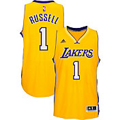 adidas Men's Los Angeles Lakers D'Angelo Russell #1 Home Gold Swingman Jersey
