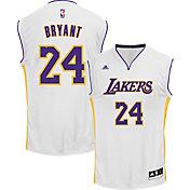 adidas Men's L.A. Lakers Kobe Bryant #24 Alternate White Replica Jersey