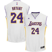adidas Men's L.A. Lakers Kobe Bryant #24 Alternate White Replica Jersey