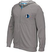 adidas Men's Dallas Mavericks Pre-Game Grey Full-Zip Hoodie