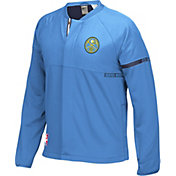 adidas Men's Denver Nuggets On-Court Blue Jacket